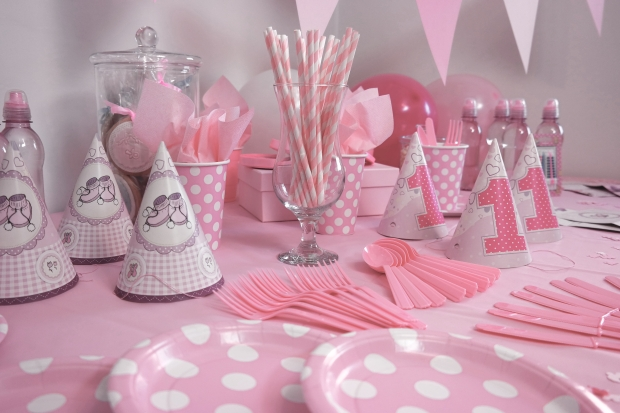 Princess birthday party table decorations